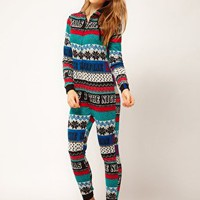 River Island Night Before Xmas Onesuit at asos.com