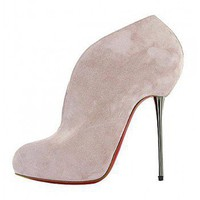 Shoes '2010 Fall-Winter Fabulous suede bootie $189,christianlouboutin,namely red bottom shoes,discount louboutins