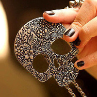 Bling² - Bling Squared — Vintage Skull Necklace
