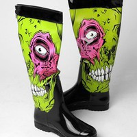 Iron Fist Zombie Stomper Rain Boot - Green - Punk.com