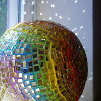 Blank Note Cards 5 1/2 x 4 inches Chakra Gazing Ball Mosaic - Set of 2