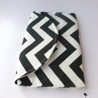 The Jillian: Medium Clutch in Black &amp; White Chevron from EchoLand Bags