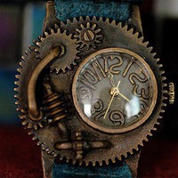 Ooaks steampunk  sassi wrist watches 'DEADLAND 3 ' by revolt70