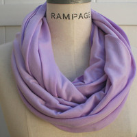 Lavender Infinity Scarf FREE SHIPPING  Purple Eternity Scarf Neckwarmer  Winter Fashion - By PiYOYO