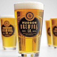 set of 4 personalized hops pub glasses from RedEnvelope.com