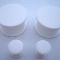 KAOS SOLID White Plugs (10g - 1 inch)