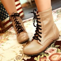 Lace Up Boots from Seek Vintage