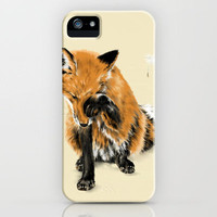 Fox and Dandelion iPhone Case by Lynn Cordell-Frisby | Society6