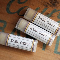 Earl Grey Lip Balm  One Tube Beeswax Shea Cocoa by longwinterfarm