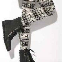 Fashion Womens Xmas Snowflake Reindeer Knitted Warm Leggings Tights winter Pants