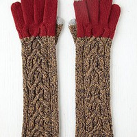 Free People Contrast Cable Long Glove