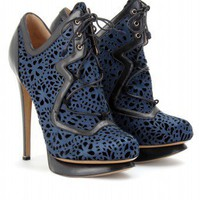 mytheresa.com - Nicholas Kirkwood - LASER CUT SATIN LACE-UPS - Luxury Fashion for Women / Designer clothing, shoes, bags