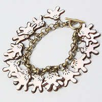 The Disney Couture Jewelry X Dr. Romanelli Mickely Hand Wood Charm Bracelet