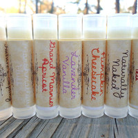 Choose any three lip balms, all natural