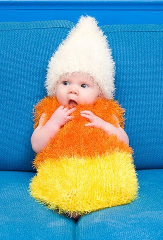 Baby Candy Corn Costume on Wanelo