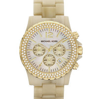 Michael Kors Oversized Madison Chronograph Watch, Horn - Michael Kors
