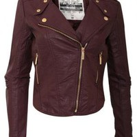 Long Sleeve PU Biker Jacket - by Pilot