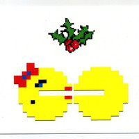 8 bit gaming Holiday cards, set of 10, 8bit retro videogame arcade Christmas notecards cyber monday sale
