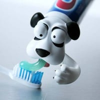 Toothpaste Pete from Spread Heads™ | Toothpaste Head Dog to help brush your teeth | Toothpaste Cap | Great Holiday and Birthday Gifts