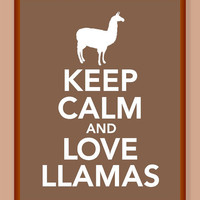 Keep Calm and Love Llamas Print - Buy two Get a Third One for FREE
