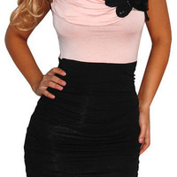 Crystal Dish (Pink/Black)-Great Glam is the web's top online shop for trendy clubbin styles, fashionable party dress and bar wear, super hot clubbing clothing, stylish going out shirt, partying clothes, super cute and sexy club fashions, halter and tube t