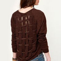 Obey Endless Skies Burgundy Cropped Sweater