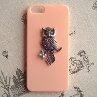 Steampunk Owl hard case For Apple iPhone 5 case cover
