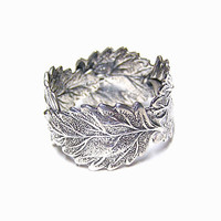Forest Silver four Leaf ring (sterling silver)
