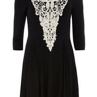 Black/Cream flare dress - View All  - Dresses
