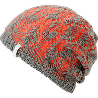 Empyre Girl Noble Crochet Orange & Grey Beanie