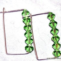Green Pop Swarovski Crystal Earrings