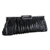 Big Buddha Serena Black Clutch | Big Buddha Bags at Rain Collection