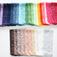 ADULT Lace Headband 18 - 20 inches Hand Dyed Tones Stretch Lace 36 Color OptionsAdult Headband Teenager Headbands