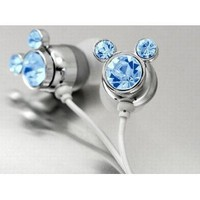Amazon.com: Blue Crystal Mickey Cartoon Cute Lovely Fashion Earphone headphone For Apple iPod MP3 player: Electronics