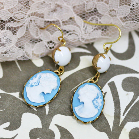 theresa indie cameo earrings - &amp;#36;36.99 : ShopRuche.com, Vintage Inspired Clothing, Affordable Clothes, Eco friendly Fashion