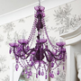 NEW! Etoile 8-Arm Purple Chandelier