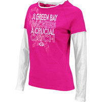 Green Bay Packers Breast Cancer Awareness Long Sleeve Tee