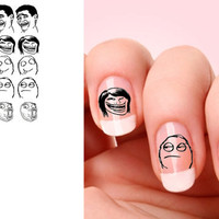 Set of 20  Meme nail art decals.