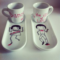 "Coffee Set ""Dance Me to The End Of Love"""