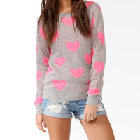 Heart Patterned Sweater