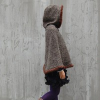 Arctic Snow heavy woolen hood poncho P1015 by idea2lifestyle
