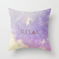Relax Throw Pillow by Rachel Burbee | Society6
