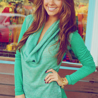Keep It Cozy Top: Jade/Green | Hope's