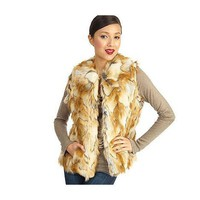 Luxe Rachel Zoe Faux Fur Vest with Hook & Eye Closure - QVC.com
