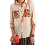 Animal Inset Chiffon Blouse: Charlotte Russe