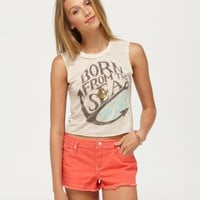 Sea Born Crop Tee - Roxy