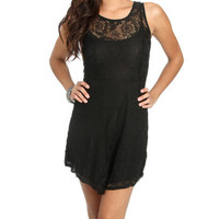 Lace Overlay Skater Dress | Shop Dresses at Wet Seal