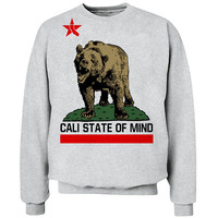 California Bear Cali State of Mind Crew Neck Sweat Shirt free shipping