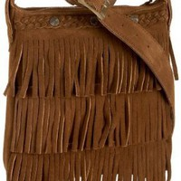 Minnetonka Fringe Handbag,Dusty Brown