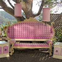Hollywood Regency 6 Piece Bedroom Set - Pretty in Pink - Reasonable Offers Considered